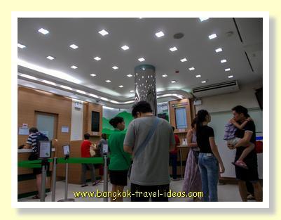 Interior of Super Rich Thailand money exchange