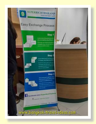 The easy exchange process at Super Rich Thailand offices