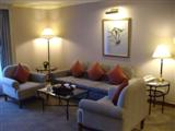 A lounge area is a common feature of two and three bedroom suites in Bangkok