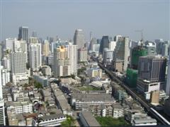 View towards the city of Bangkok
