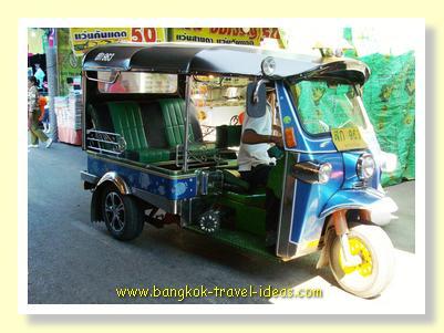 Bangkok tuk tuk for exploring Chinatown
