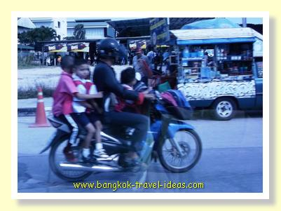 Motorcycle taxi for nipping through the traffic in Bangkok