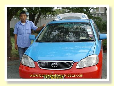 Bangkok taxi and driver to help you get around Bangkok