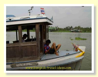 River boat on the Chaophrya River to ferry you over to the island of Koh Kret
