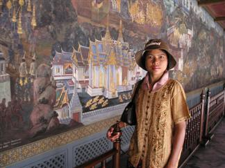 Wat Phra Kaew mural inside the temple grounds