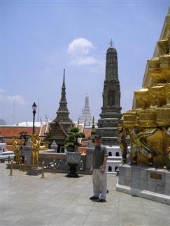 Stupas inside Wat Phra Kaew