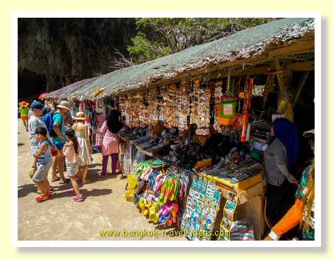 Market on James Bond Island