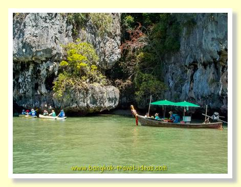 Even slower boats near James Bond island