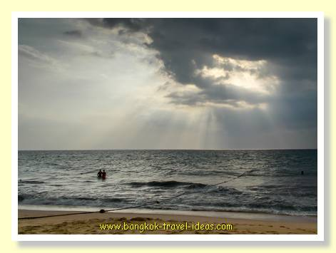 Stormy skies at Mai Khao beach Phuket