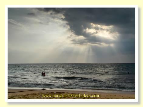 Stormy skies at Mai Khao beach Phuket