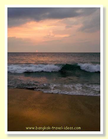Sunset from Mai Khao Beach Phuket