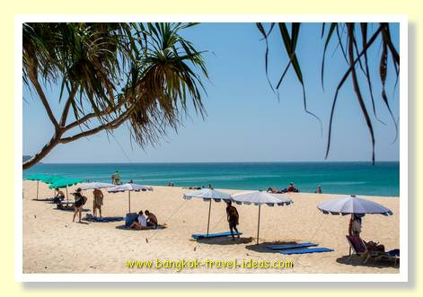 Karon Beach umbrellas