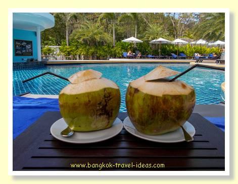 Coconuts at Karon Beach