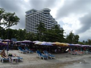 Hua Hin beach view of the Hua Hin Hilton Hotel