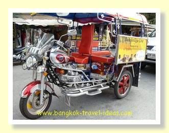 Hua Hin tuk tuk motorcycle outside the Hua Hin Hilton Hotel