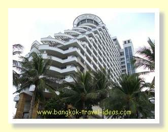 Hilton Hotel Hua Hin towers above the beach