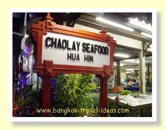 Chao Lay seafood restaurant at Hua Hin