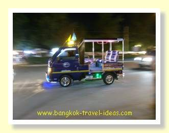 Hua Hin tuk tuk to the Cicada night market