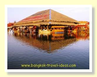 Traditional Thai house at Sam Phan Nam floating market near Hua Hin