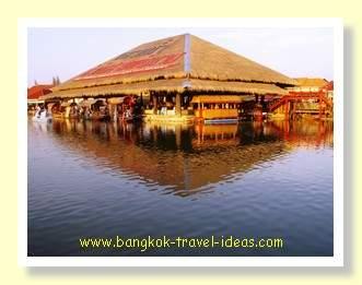 Traditional Thai house at Sam Phan Nam floating market near Hua Hin