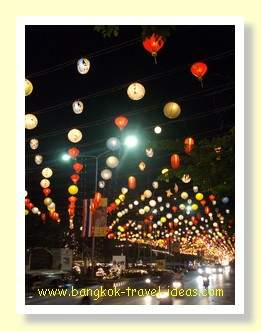 Hua Hin Chinese lanterns near the night market