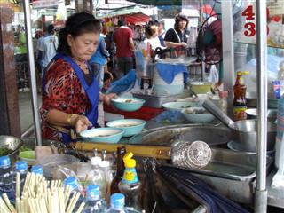 Noodle stall at Banglamphu markets on the way to Khaosan Road