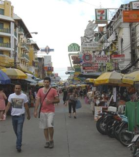 View along Khaosan Road Banglamphu