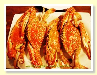 Order fresh Crab at Dusita Resort for your evening meal