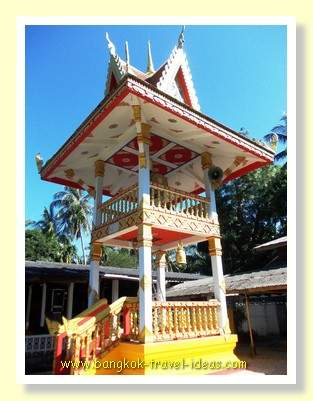 Buddhist temple bell tower on Koh Kood