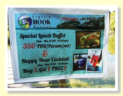 Captain Hook Resort two for one cocktail special