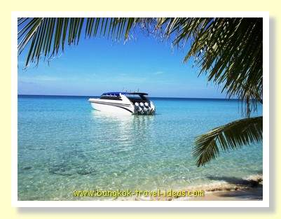 Dream speedboat on Koh Kood moored offshore