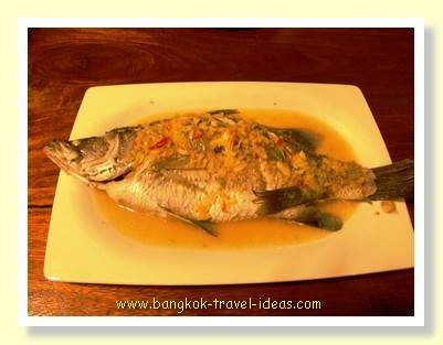 Steamed fish on Koh Kood