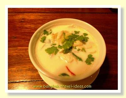 Tom Kha Gai, coconut and chicken soup