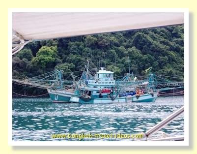 Koh Kood prawn fishing boats