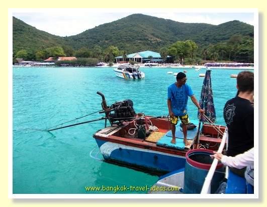 Boat to take us to the beach on Koh Lan