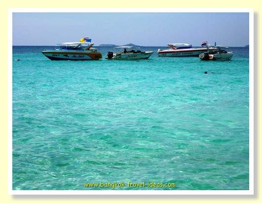 Koh Lan has water the colour of aquamarine that invites you in to swim