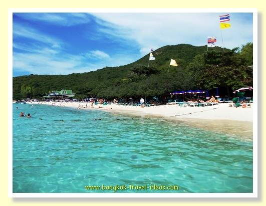 Beaches near Bangkok are not all as good as on Koh Lan