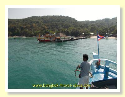 Arriving at Koh Samet from Seree Ban Phe pier