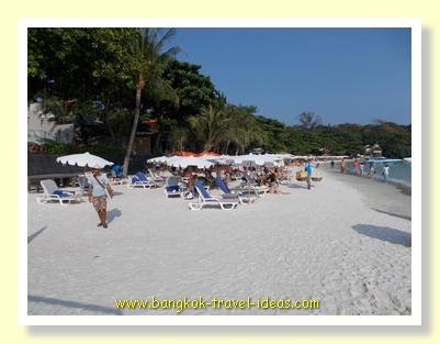 Crystal white sand on Koh Samet