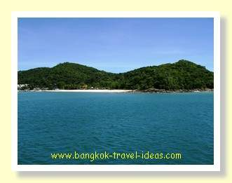 Approaching the island of Koh Samet