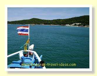 There was a big swell and it was impossible to stand up unaided on the Koh Samet ferry