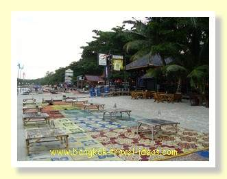 Dining on the beach at Koh Samet