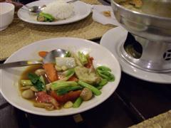 Thai stir fried vegetables