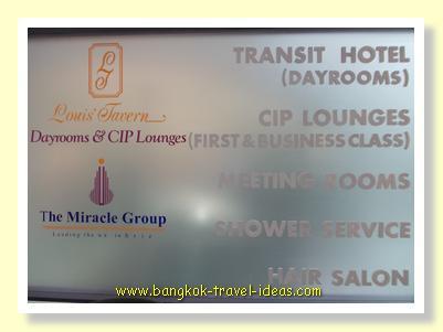 Shower at Bangkok Airport in Louis' Tavern dayrooms