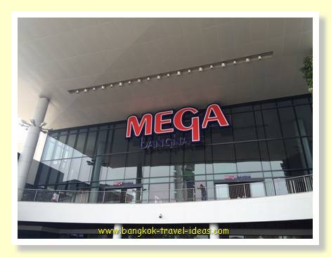 Entrance to Mega Bang Na shopping mall