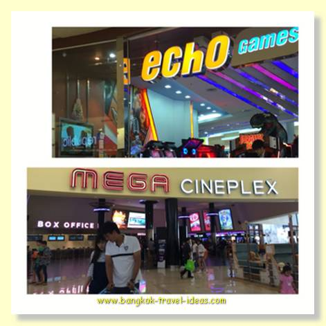 Gaming and movies at Mega Bang Na shopping mall