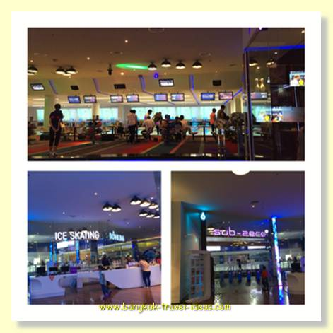 Ten pin bowling and ice skating at Mega Bang Na shopping mall