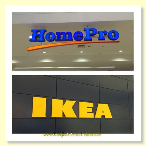 HomePro and Ikea at Mega Bang Na shopping mall