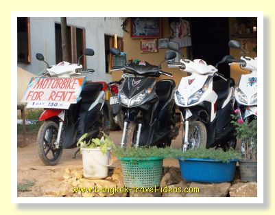 Thailand motorbikes for rent on Koh Chang