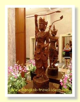 Thai figurine in the foyer
